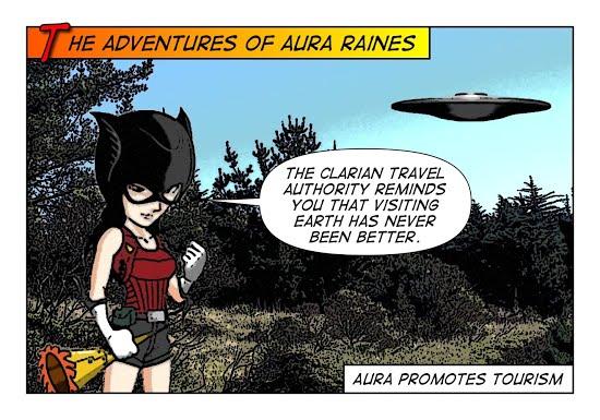 Aura Raines promotes tourism