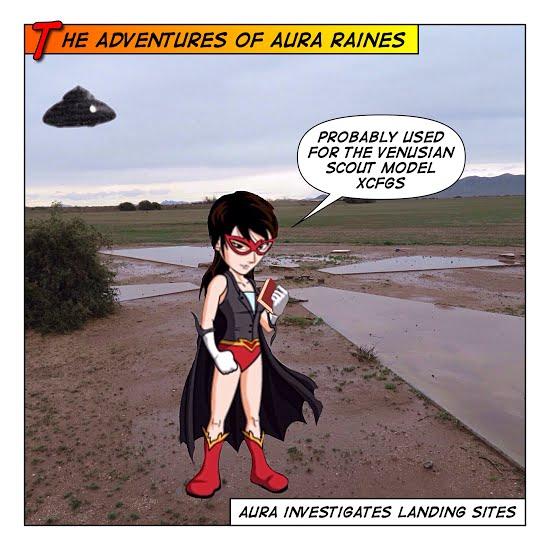 Aura Raines at ancient landing site