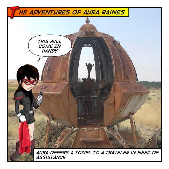 Aura visits to a Rusty SPACECRAFT