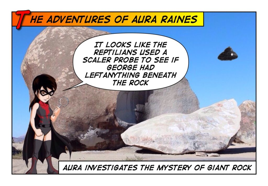 Aura and Giant Rock